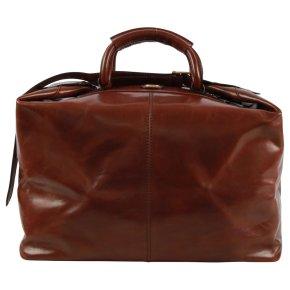 Reisetasche Schulterriemen 45cm Rindleder braun