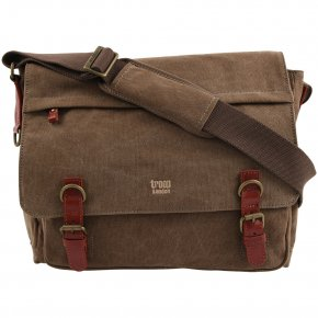 Troop London Messengerbag Laptop  Canvas  brown