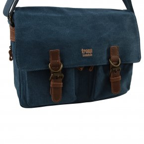 Troop London Messengerbag Canvas blue