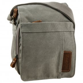 Troop London Across Body Bag Canvas ash grey