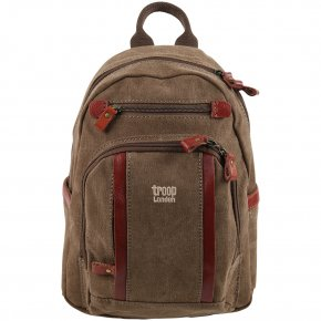 Troop London Backpack S Canvas brown