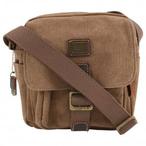 Troop London Shoulderbag small  Canvas brown