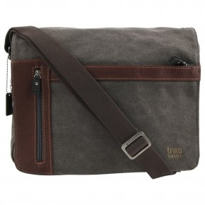 Troop London Messengerbag Canvas black