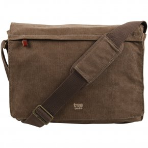 Troop London Messengerbag L Canvas brown