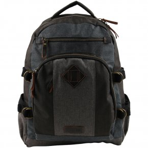 Troop London Backpack black/grey Canvas