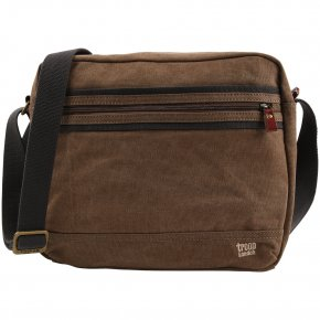 Troop London Messengerbag Tablet Canvas brown