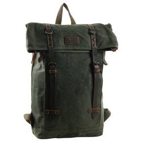 Troop London Backpack Canvas dark green