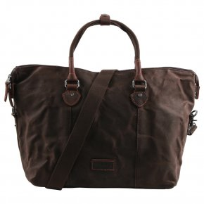 Troop London Weekender dark brown