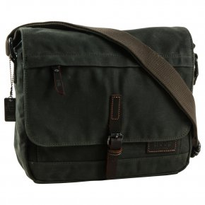Troop London Messengerbag Laptop Canvas dark green