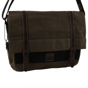 Troop London Laptop-Messengerbag Canvas olive