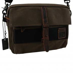 Troop London Across Body Bag  Canvas olive