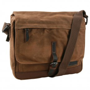 Troop London Messengerbag Laptop  Canvas camel