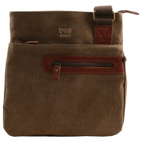Troop London Across Body brown Bag Canvas