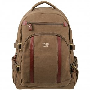 Troop London Backpack L Canvas brown