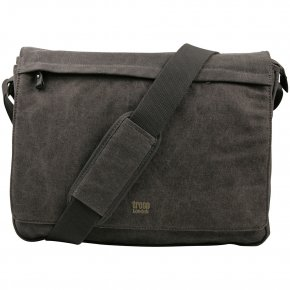 Troop London Messengerbag L Canvas black