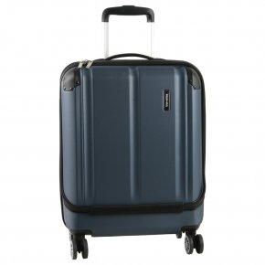 Travelite City 4w S marine Businesstrolley mit Vortasche