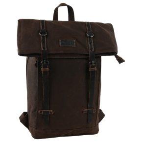 Troop London Backpack Canvas dark brown