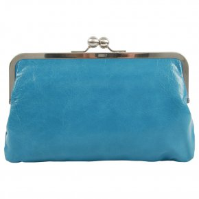 VOLKER LANG HILDEGARD Clutch vintage azzurro