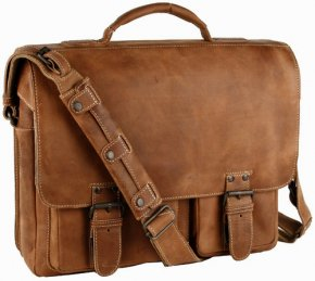 Aunts & Uncles FINN Aktentasche Vintage Tan