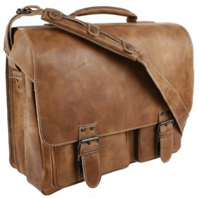 Aunts & Uncles BIG FINN Aktentasche vintage tan