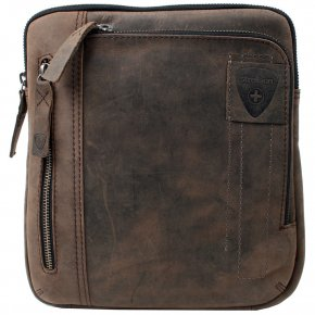 Strellson Zip Bag mit Tabletfach dark brown