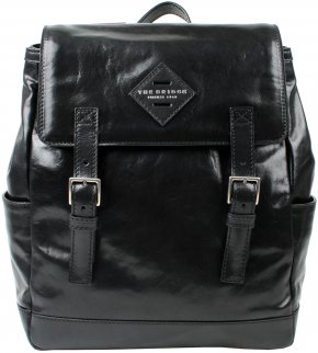 the bridge Rucksack Laptopfach Rindleder  schwarz