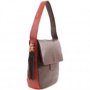 JERSEY 3 Schultertasche cacao/tabasco