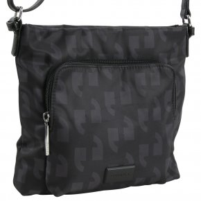 ANY TIME Schultertasche black