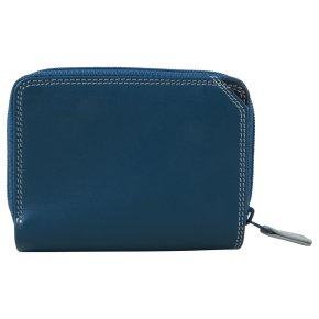 Small Wallet Zip Around Damenbörse denim