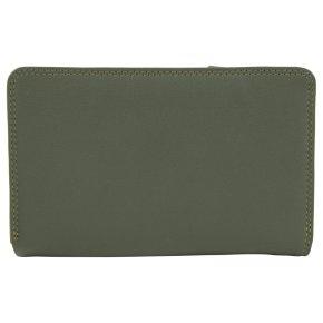 Medium Tri-fold Zip Damenbörse olive