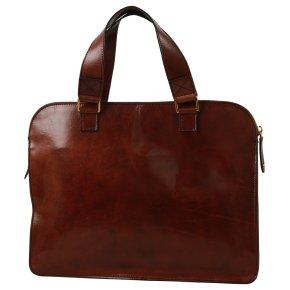 Schmale Business Bag marrone