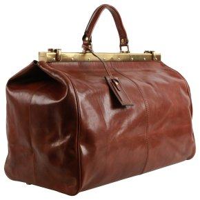 Bügelreisetasche 50 cm Rindleder braun