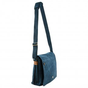 Messengerbag L Canvas blue