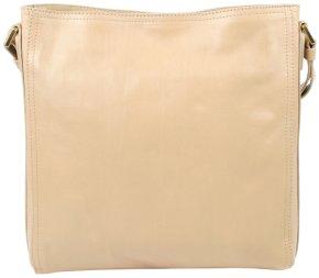 kleine Schultertasche Bodybag Rindleder sand