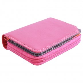 Small Wallet Zip Around Damenbörse sangria multi