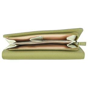 Tri-fold Zip Damenbörse olive