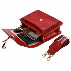 Damentasche rot Rindleder