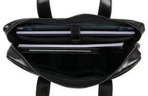 Laptoptasche Rindleder schwarz