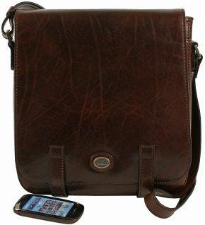 Messenger Bag mit Laptopfach für Herren testa di moro