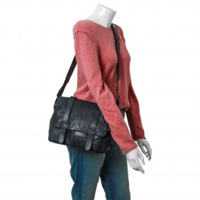 MISS APPLEPIE Schultertasche Postbag blue mood