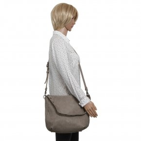 Elfi Hobo medium stone saddle