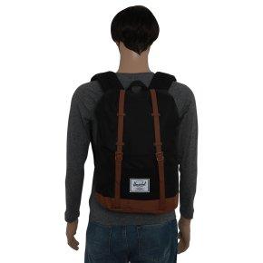 RETREAT Rucksack black/saddle brown