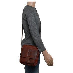 Loreto Remus shoulderbag dark brown
