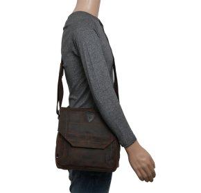 HUNTER shoulderbag dark brown