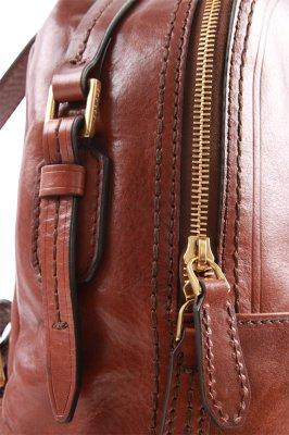 Rucksack 26 cm Rindleder braun