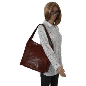 Damentasche Rindleder braun