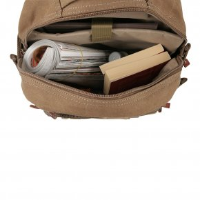 Backpack L Canvas brown