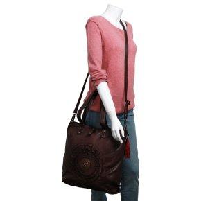 SONNENFELSGASSE 2 shoulder bag L chocolat fondent